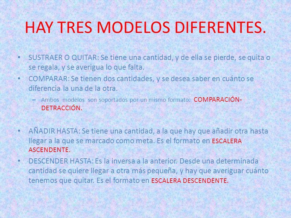 HAY TRES MODELOS DIFERENTES.