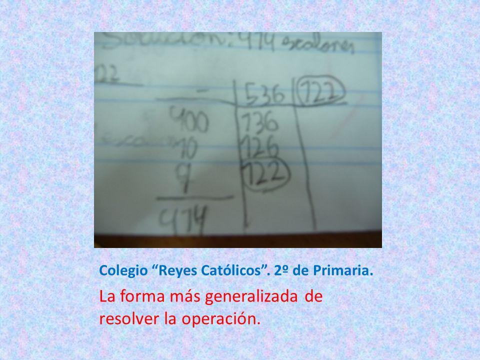 Colegio Reyes Católicos . 2º de Primaria.