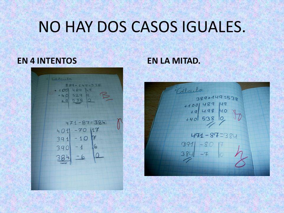NO HAY DOS CASOS IGUALES.