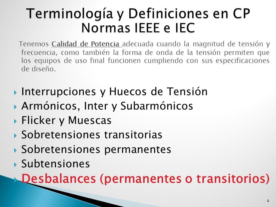 Terminología y Definiciones en CP Normas IEEE e IEC
