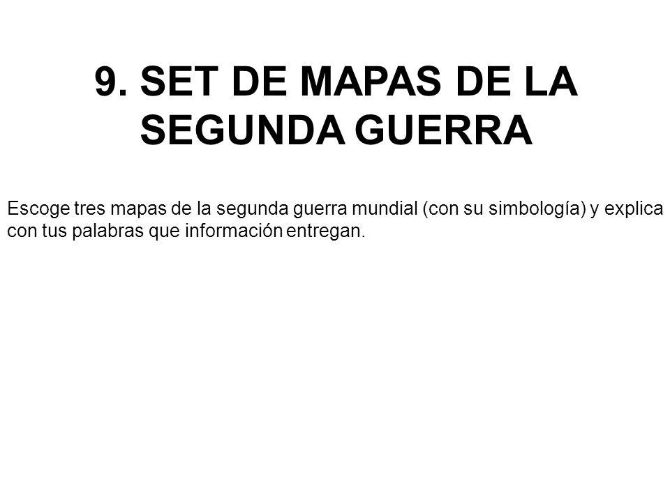 9. SET DE MAPAS DE LA SEGUNDA GUERRA