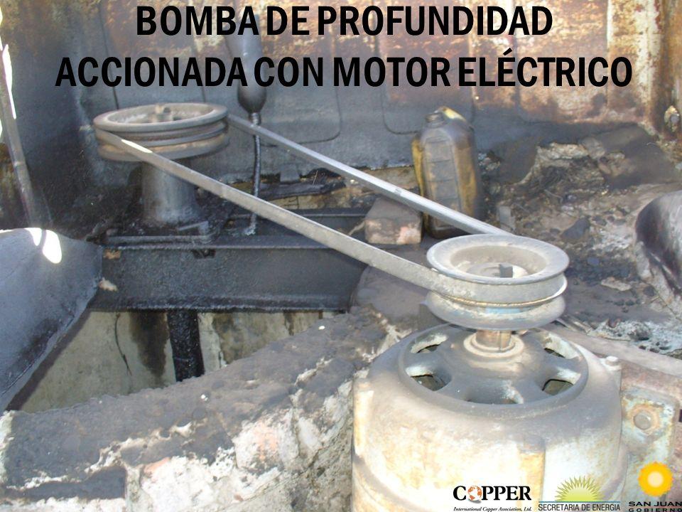 BOMBA DE PROFUNDIDAD ACCIONADA CON MOTOR ELÉCTRICO