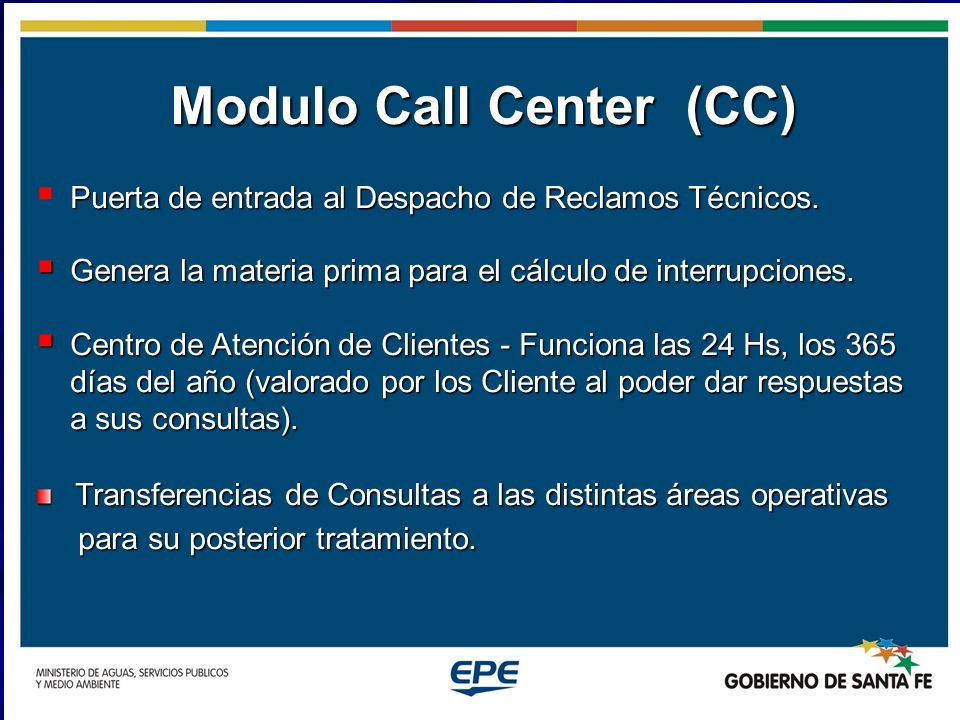 Modulo Call Center (CC)