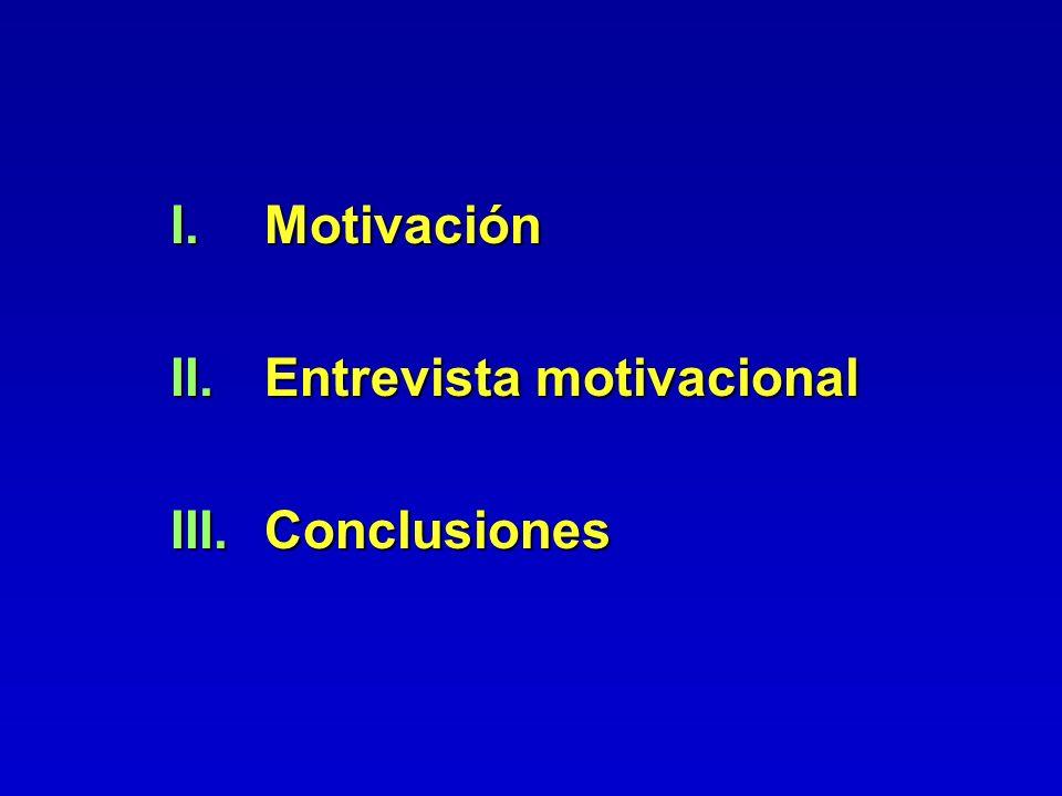 Motivación Entrevista motivacional Conclusiones