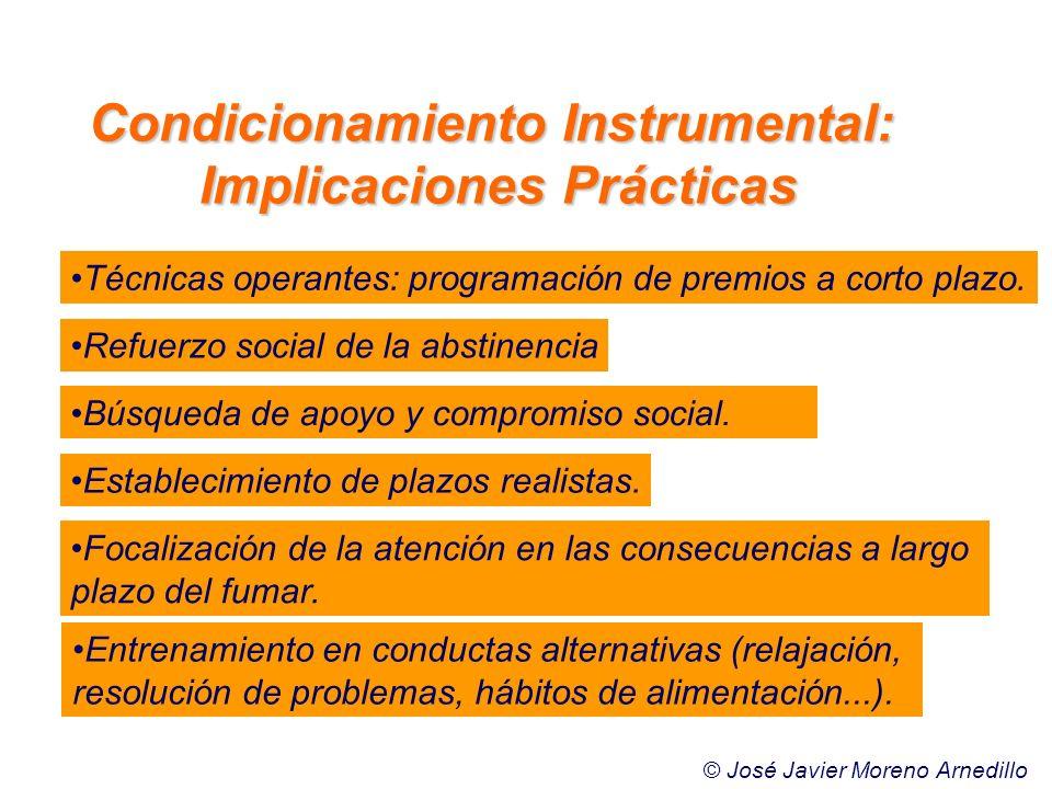 Condicionamiento Instrumental: Implicaciones Prácticas