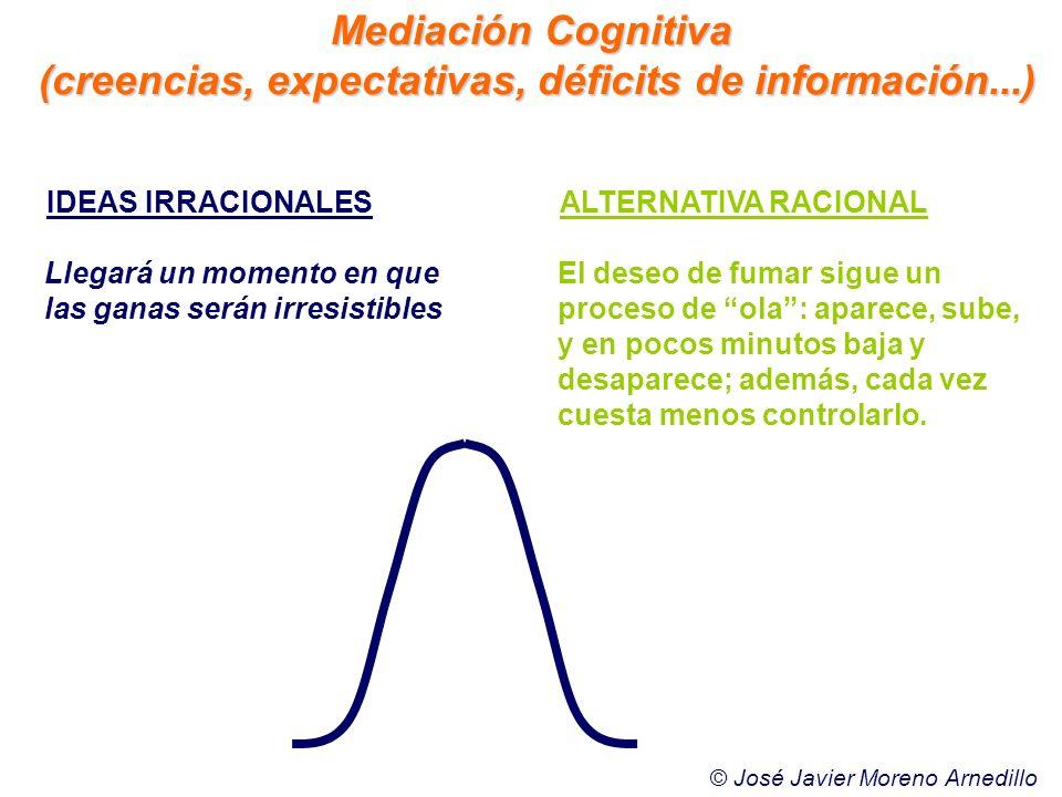 (creencias, expectativas, déficits de información...)
