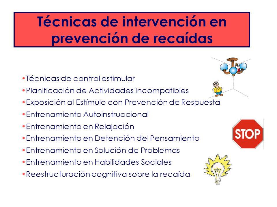 Técnicas de intervención en prevención de recaídas