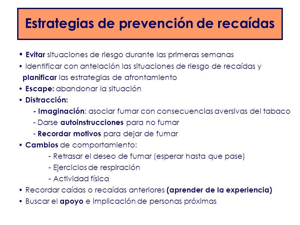 Estrategias de prevención de recaídas