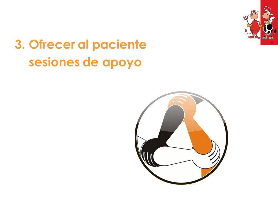 3. Ofrecer al paciente sesiones de apoyo