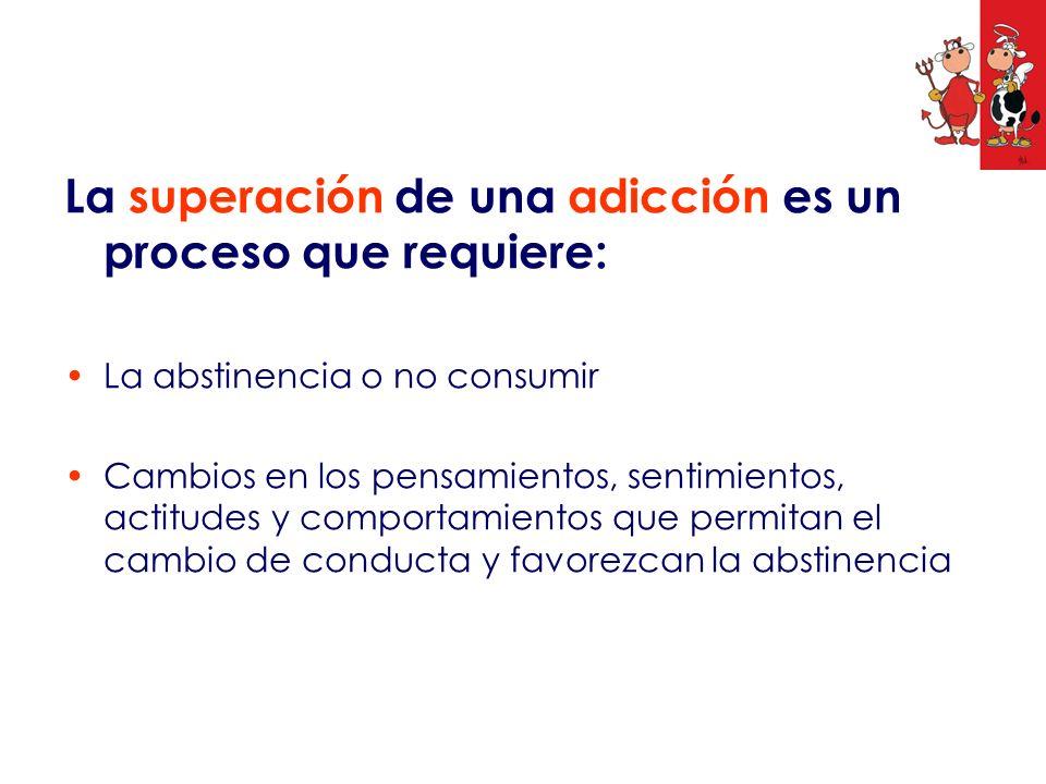 La superación de una adicción es un proceso que requiere: