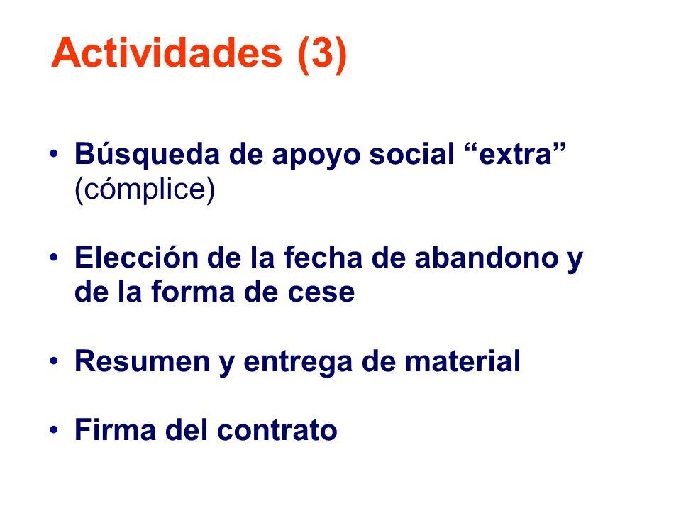 Actividades (3) Búsqueda de apoyo social extra (cómplice)