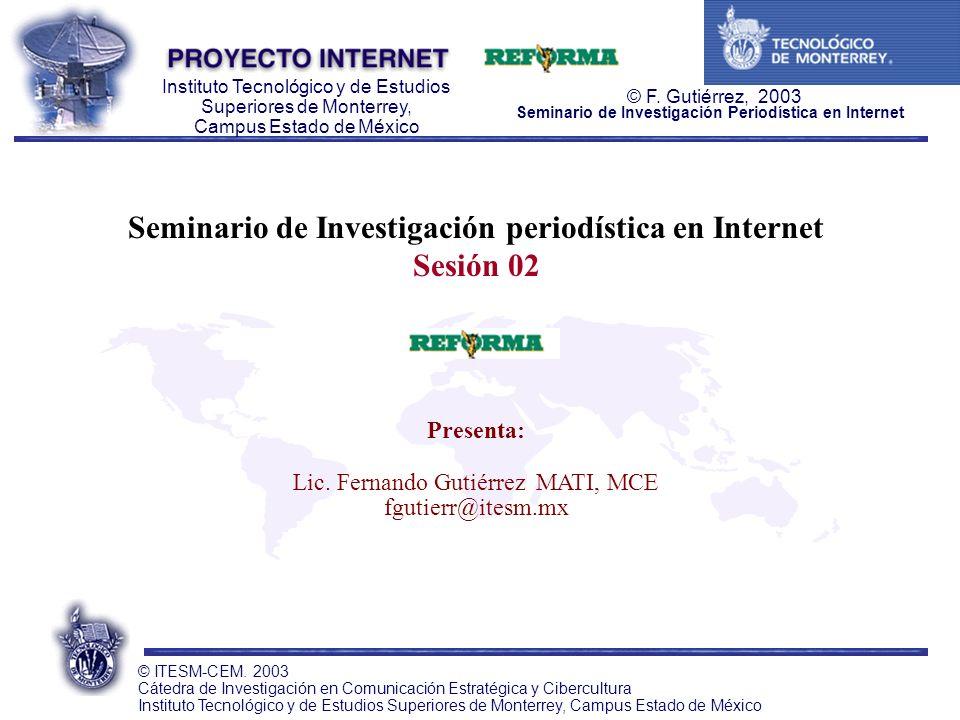 Seminario de Investigación periodística en Internet