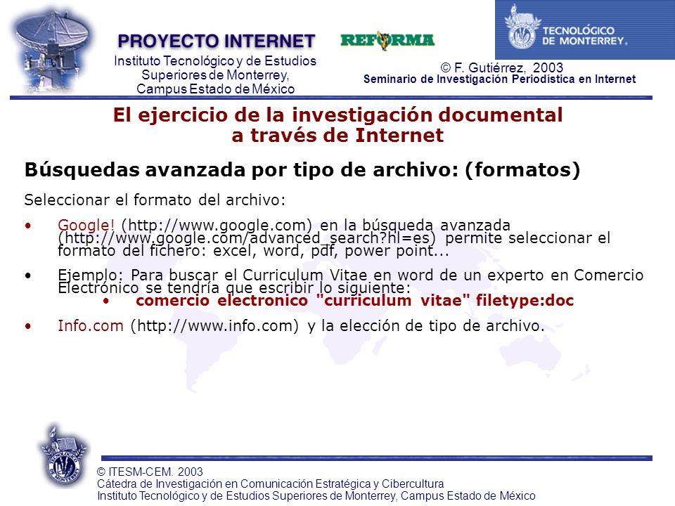 El ejercicio de la investigación documental a través de Internet