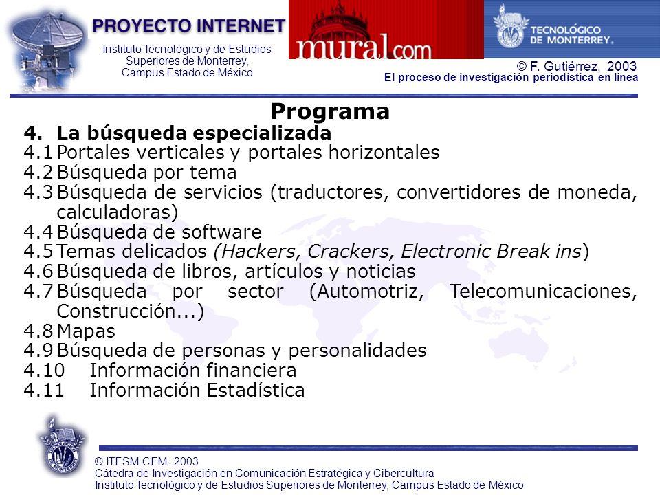 Programa La búsqueda especializada