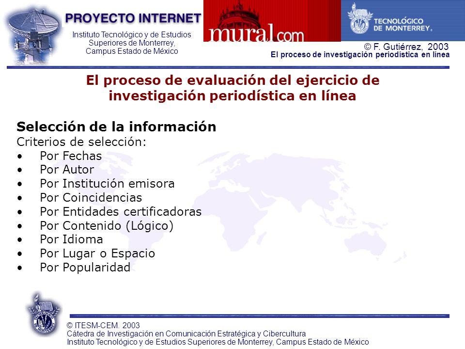 El proceso de evaluación del ejercicio de