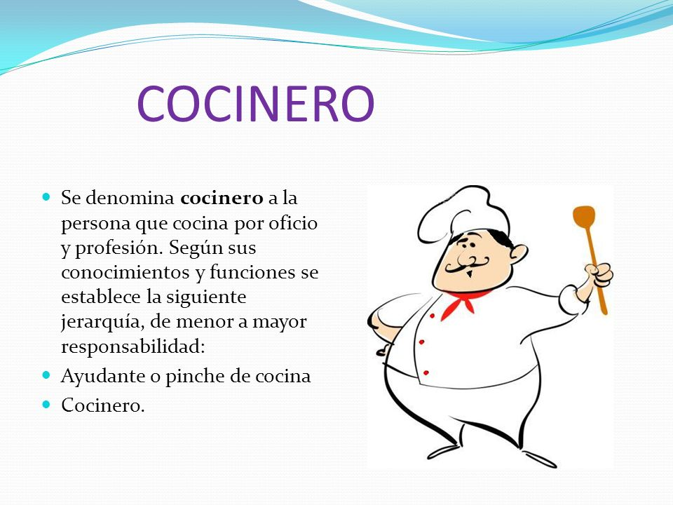Las profesiones 1 arquitecto 2 abogado 3 cocinero 4 for Herramientas de un cocinero