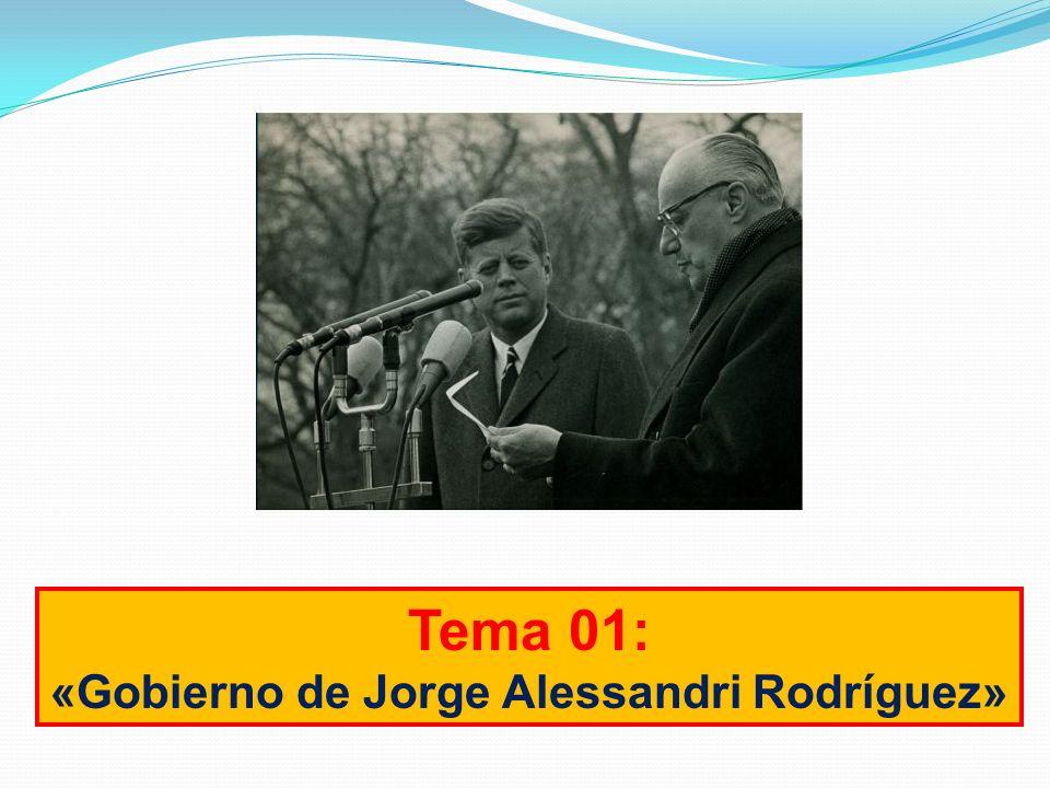 «Gobierno de Jorge Alessandri Rodríguez»