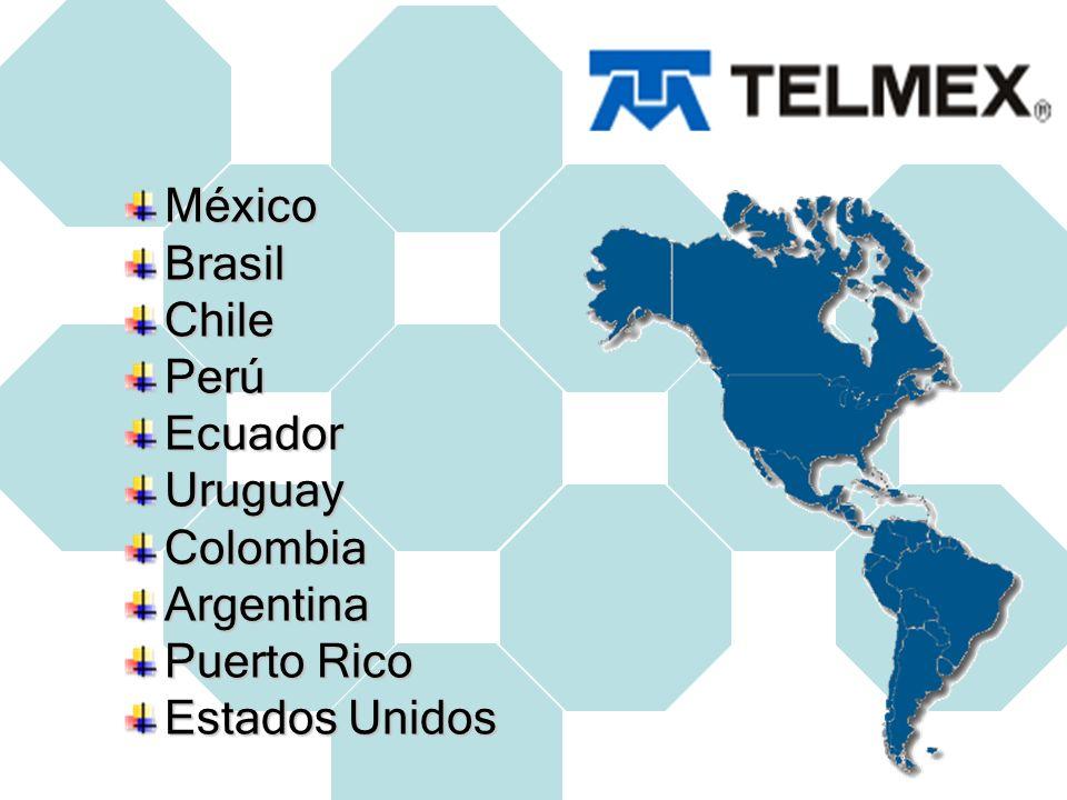 México Brasil Chile Perú Ecuador Uruguay Colombia Argentina Puerto Rico Estados Unidos
