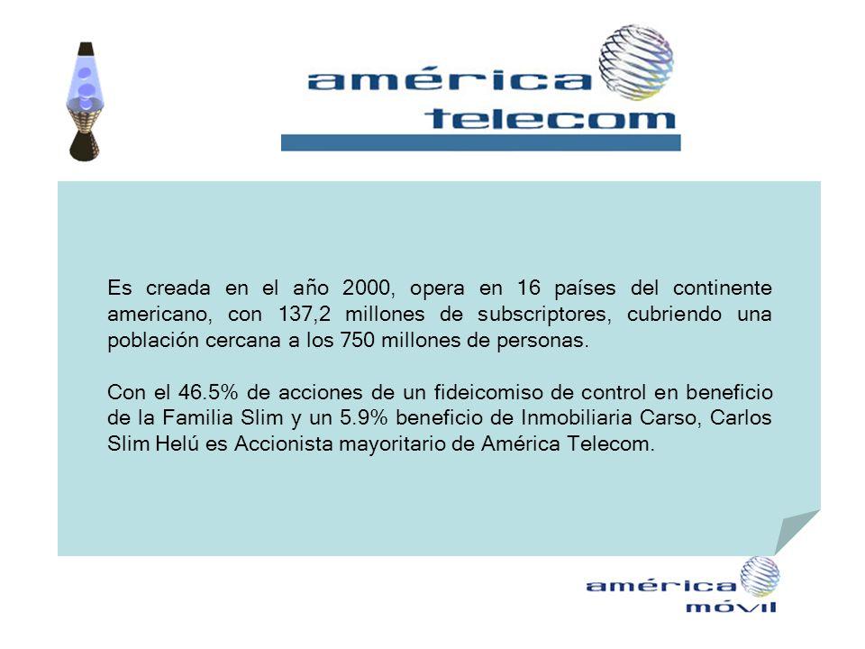 Es creada en el año 2000, opera en 16 países del continente americano, con 137,2 millones de subscriptores, cubriendo una población cercana a los 750 millones de personas.