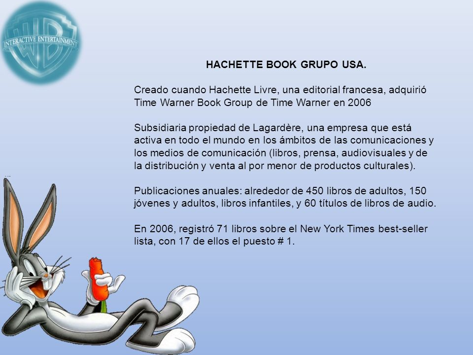 HACHETTE BOOK GRUPO USA.