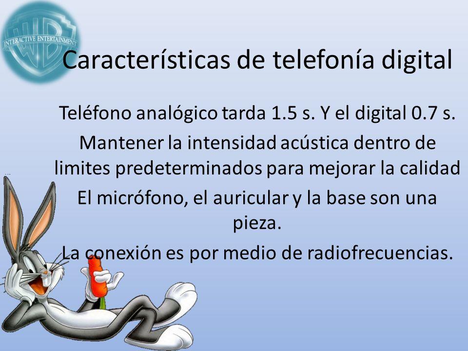 Características de telefonía digital