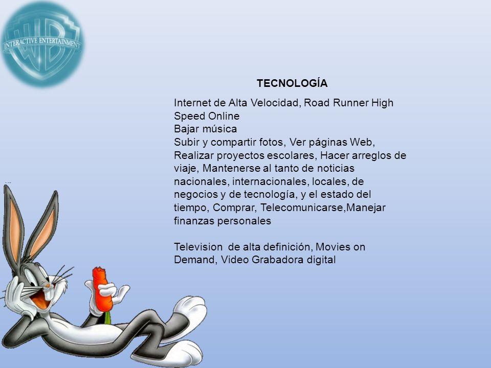 TECNOLOGÍAInternet de Alta Velocidad, Road Runner High Speed Online. Bajar música.
