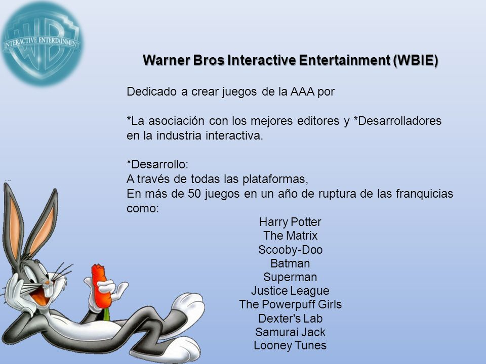 Warner Bros Interactive Entertainment (WBIE)