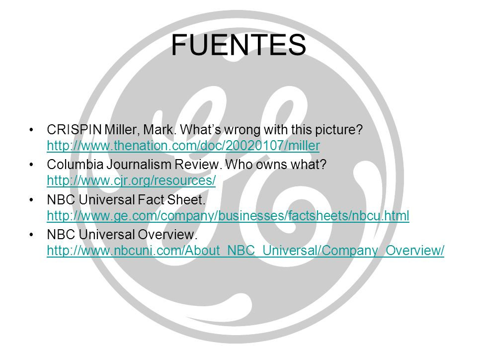 FUENTES CRISPIN Miller, Mark. What's wrong with this picture http://www.thenation.com/doc/20020107/miller.