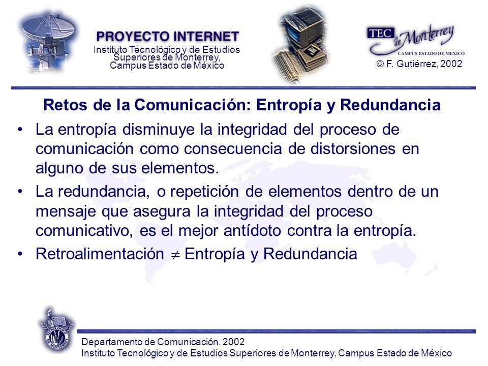 Retos de la Comunicación: Entropía y Redundancia