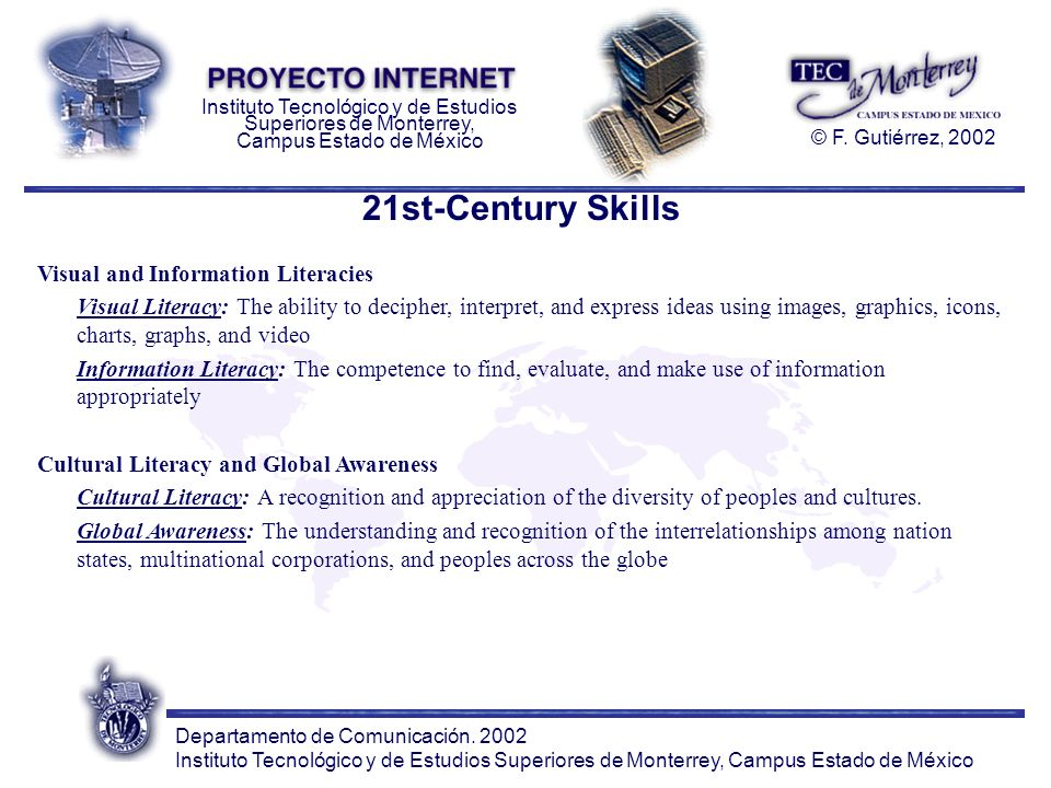 21st-Century Skills Visual and Information Literacies