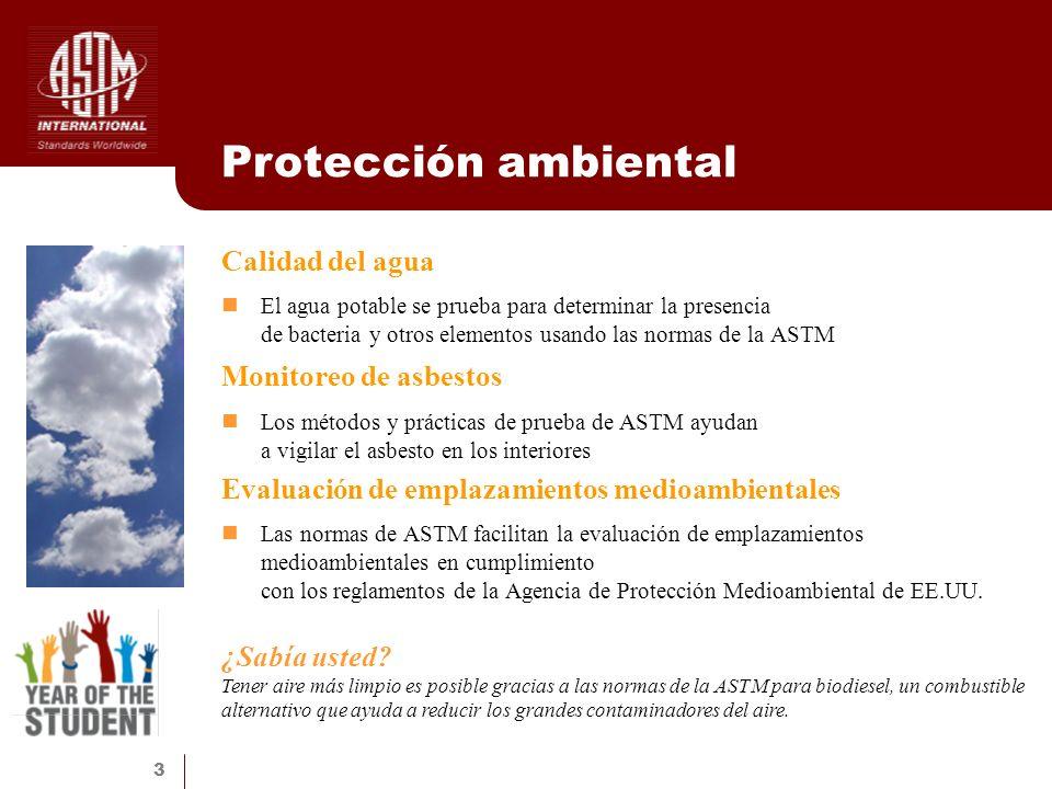 Protección ambiental Calidad del agua Monitoreo de asbestos