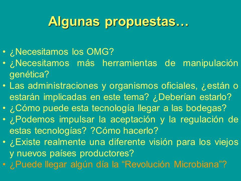 Algunas propuestas… ¿Necesitamos los OMG