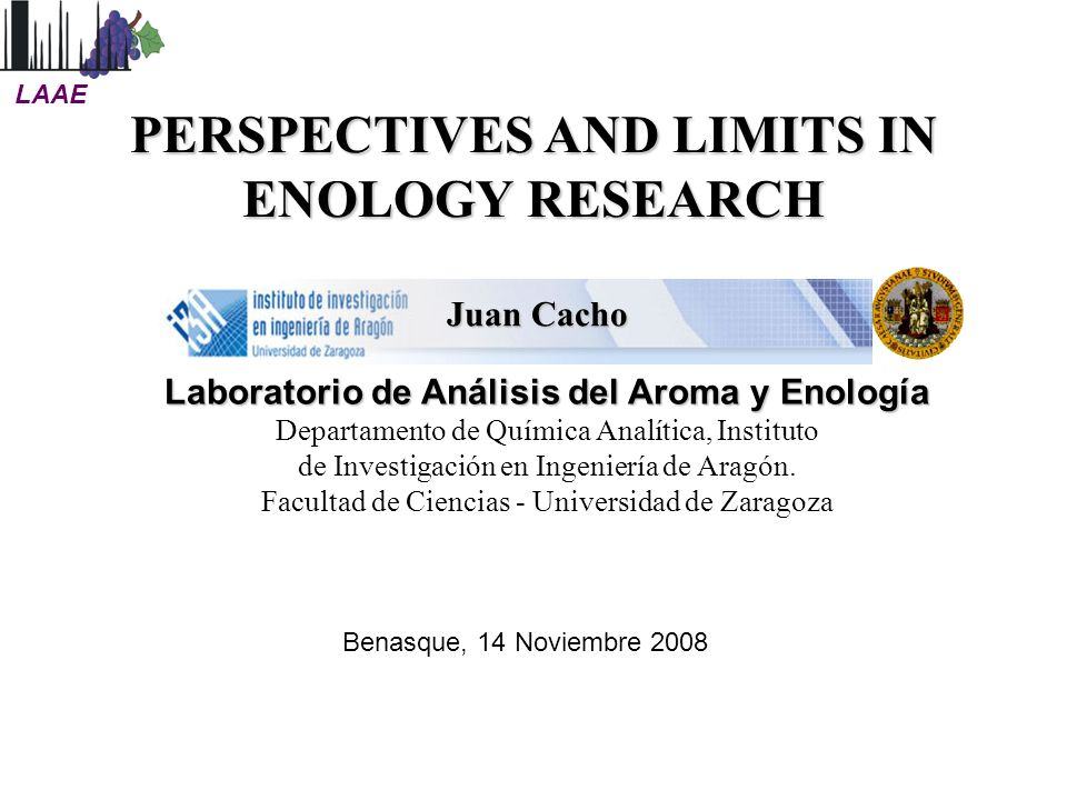 PERSPECTIVES AND LIMITS IN ENOLOGY RESEARCH