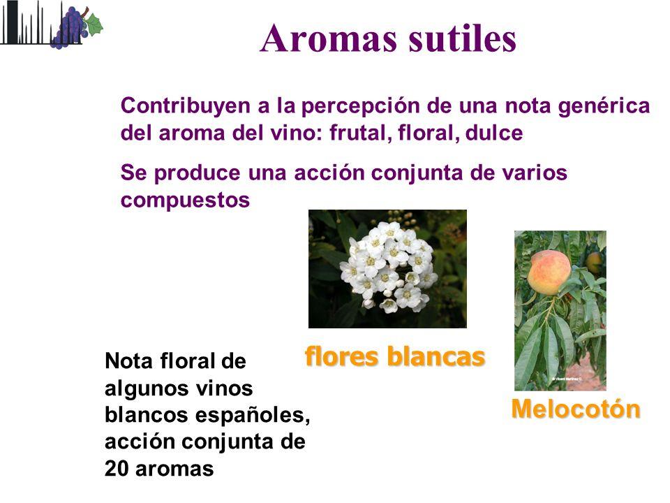 Aromas sutiles flores blancas Melocotón