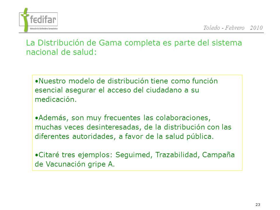 La Distribución de Gama completa es parte del sistema nacional de salud: