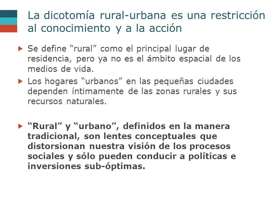 La dicotomía rural-urbana es una restricción al conocimiento y a la acción