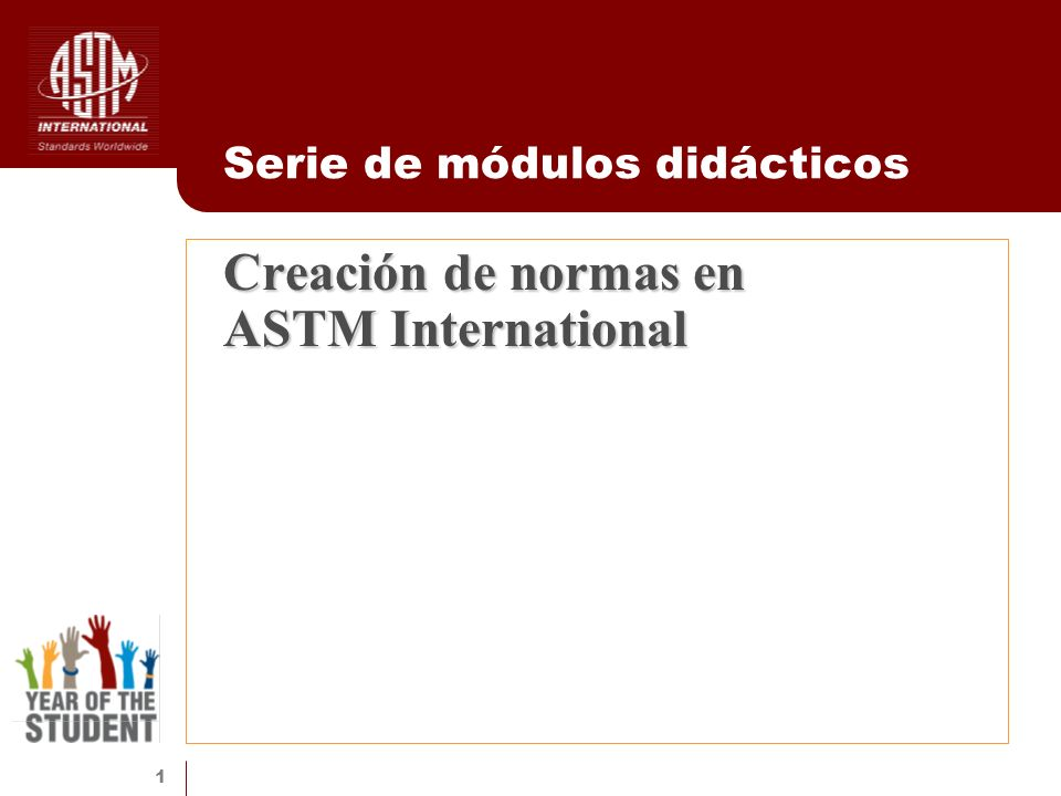 Creación de normas en ASTM International