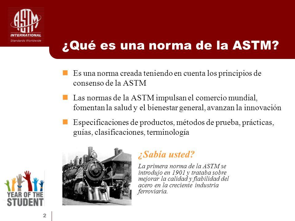 ¿Qué es una norma de la ASTM