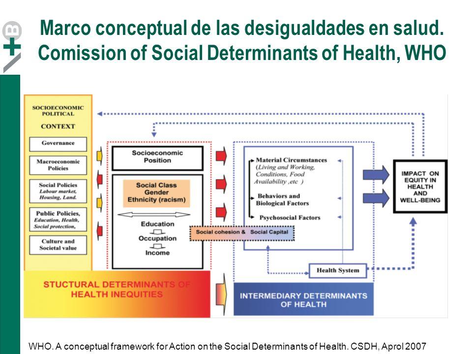 Marco conceptual de las desigualdades en salud