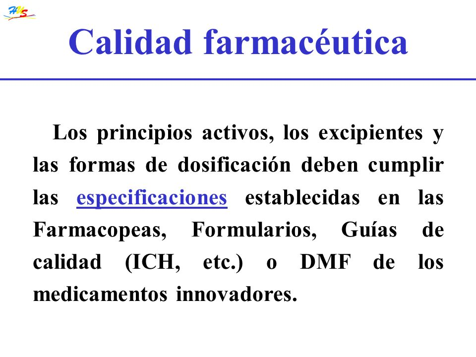 Calidad farmacéutica