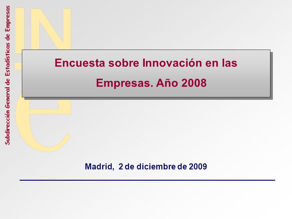 Encuesta sobre Innovación en las Empresas. Año 2008