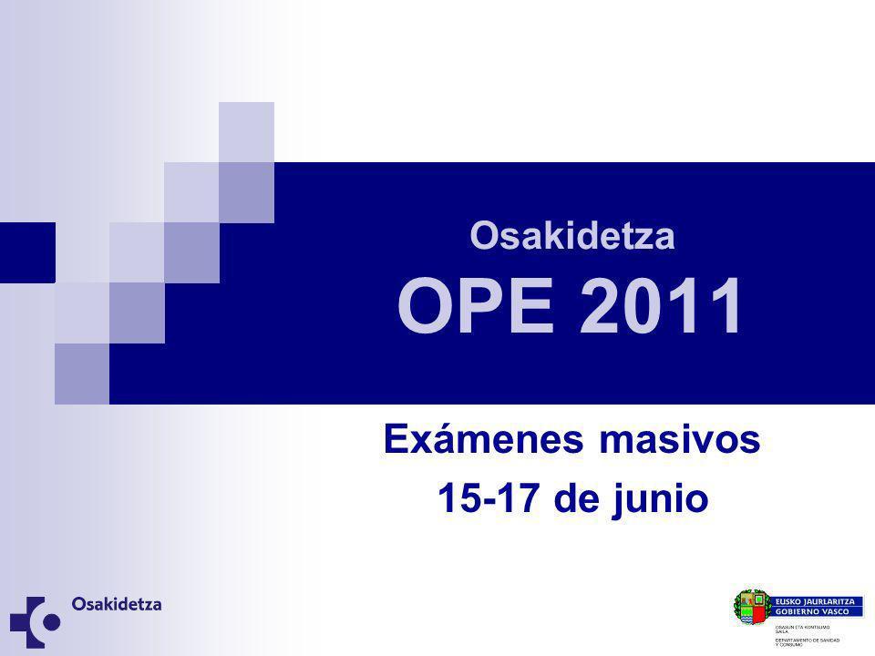 Exámenes masivos 15-17 de junio