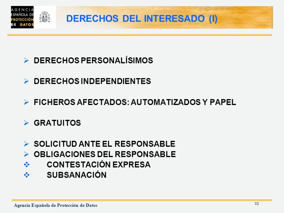 DERECHOS DEL INTERESADO (I)