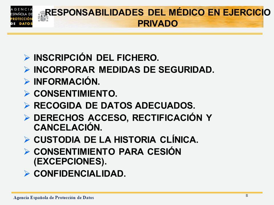 RESPONSABILIDADES DEL MÉDICO EN EJERCICIO PRIVADO