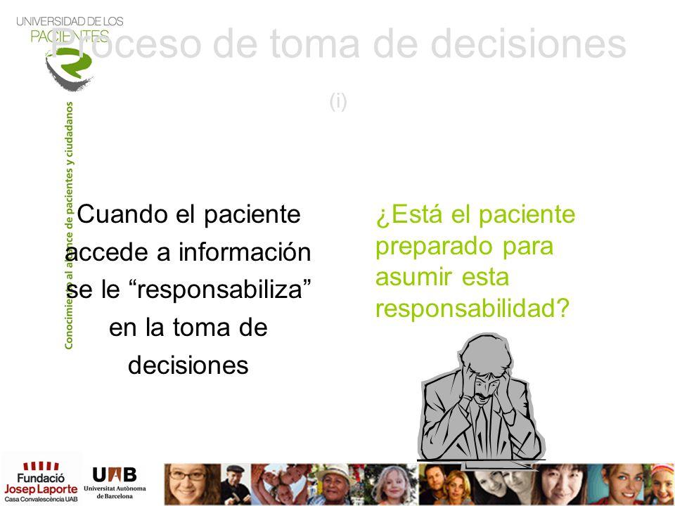 Proceso de toma de decisiones (i)