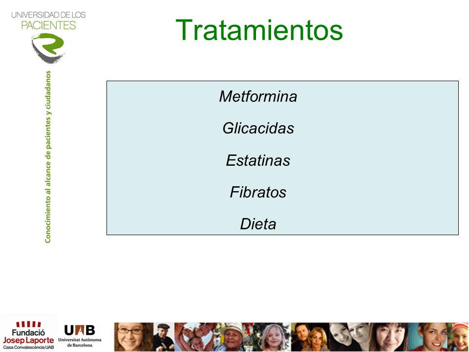 Tratamientos Metformina Glicacidas Estatinas Fibratos Dieta 5