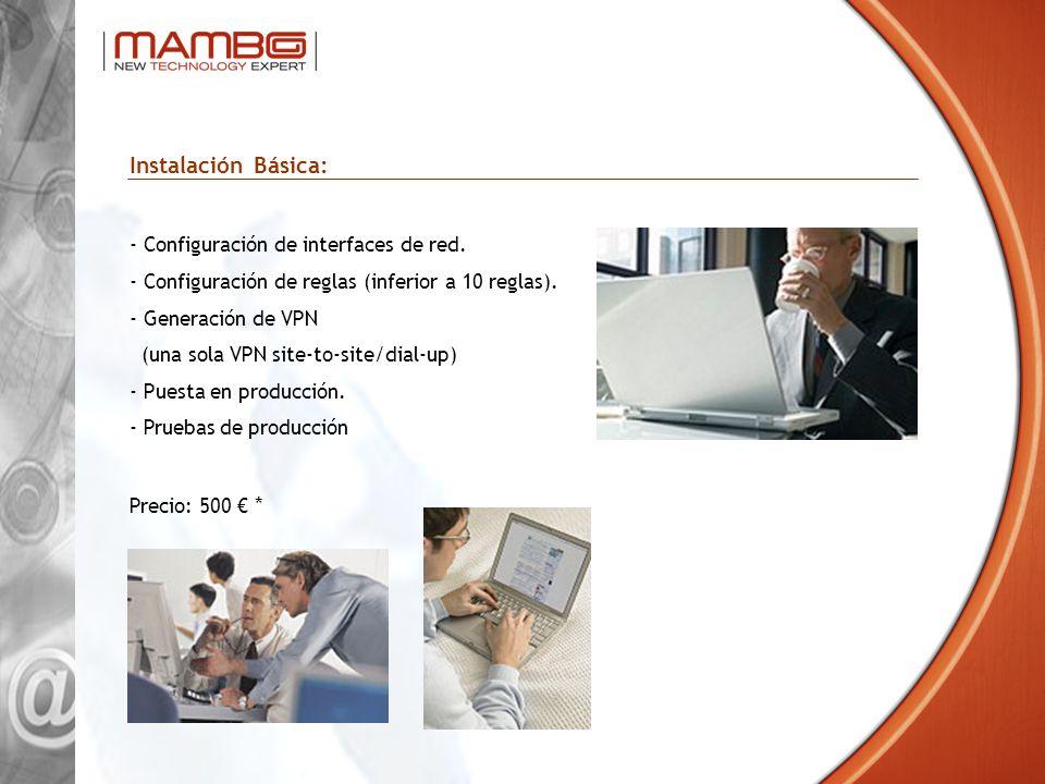 Instalación Básica: Configuración de interfaces de red.