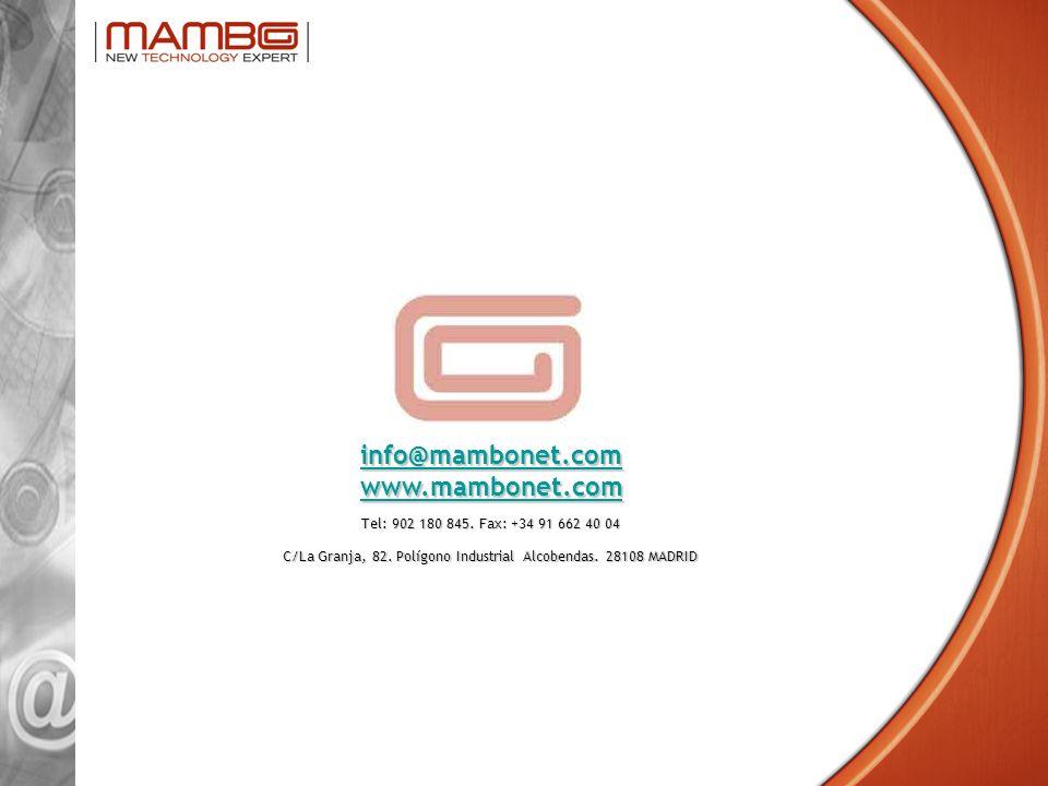 info@mambonet.com www.mambonet.com