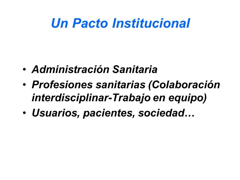 Un Pacto Institucional