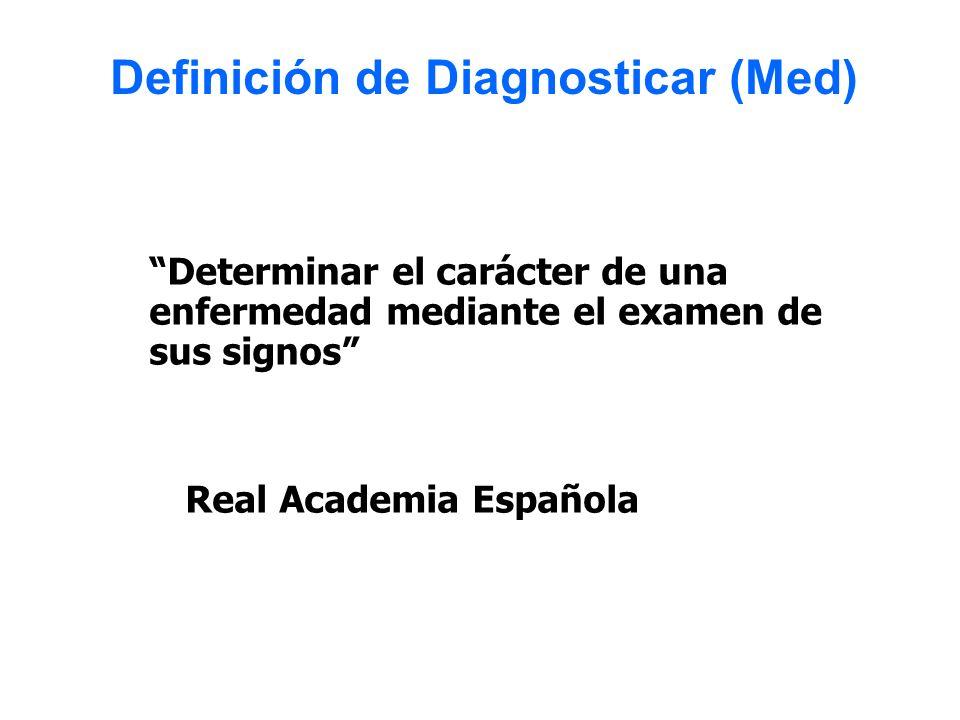 Definición de Diagnosticar (Med)